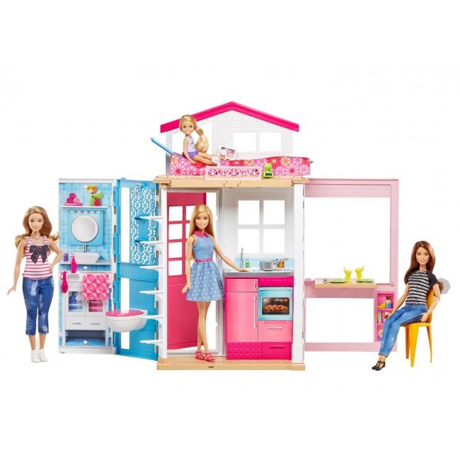 Картинки по запросу Портативний будиночок Barbie з лялькою