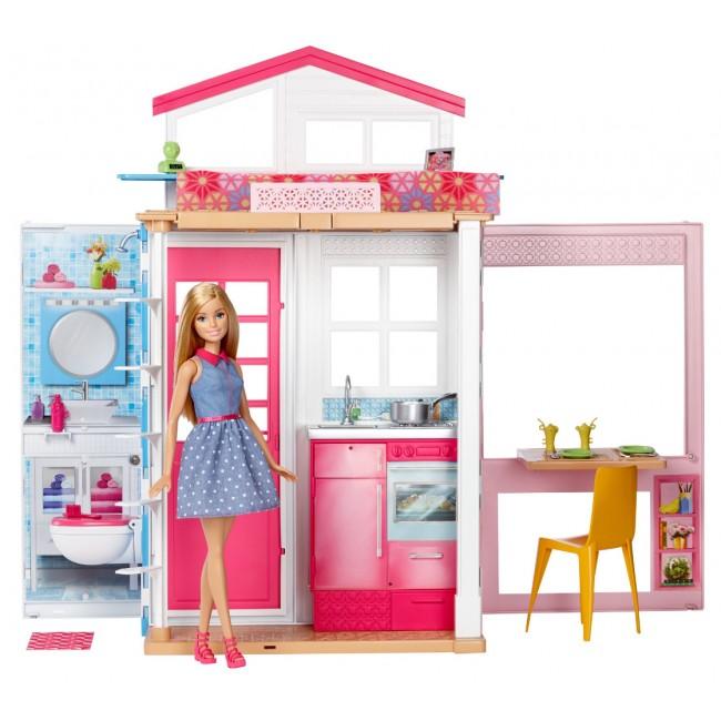 Портативний будиночок Barbie з лялькою