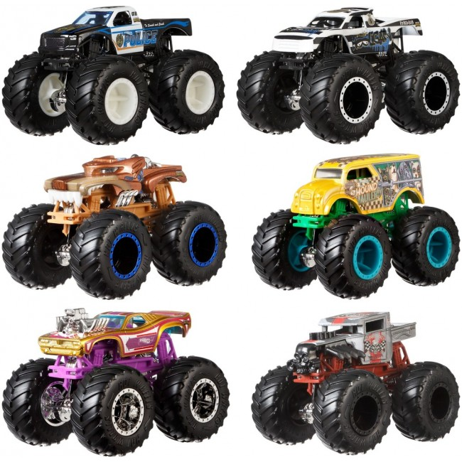 """Набір із 2 машинок-позашляховиків серії """"Monster Trucks"""" Hot Wheels (в ас.)"""
