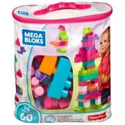 Конструктор рожевий у мішку (60 дет.) Mega Bloks