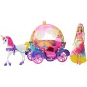 """Набір Barbie """"Райдужна принцеса з каретою та єдинорогом"""""""