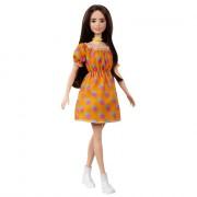 """Лялька Barbie """"Модниця"""" у сукні в горошок з відкритими плечима"""