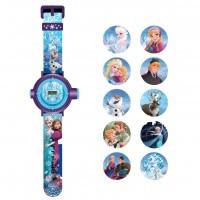 """Годинник """"Крижане серце"""" з проектором на 10 зображень (5 функцій: місяць, дата, години, хвилини, секунди)"""