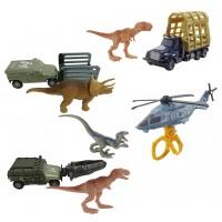 """Машинка-транспортер з фігуркою динозавра з фільму """"Світ Юрського періоду 2"""" в ас.(8)"""
