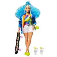 "Лялька Barbie ""Екстра"" з блакитним кучерявим волоссям"