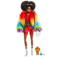 """Лялька Barbie """"Екстра"""" у веселковій накидці"""