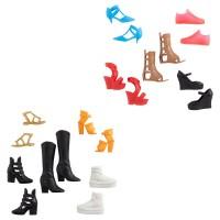 "Набір із 5 пар взуття Barbie ""Для прогулянок"" (в ас.)"