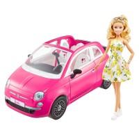 """Набір з лялькою Barbie """"Фіат"""" рожевий"""