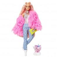 """Кукла Barbie """"Экстра"""" в розовой пушистой шубке"""