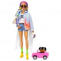 """Кукла Barbie """"Экстра"""" с радужными косичками"""