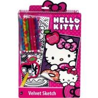 Набор для творчества с бархатной раскраской Hello Kitty