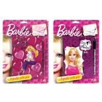 Детский дневник с ручкой Barbie