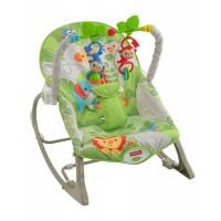 """Массажное кресло-качалка """"Веселые обезьянки"""" (до 18 кг) Fisher-Price"""