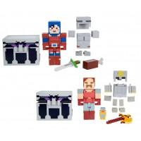"Набор из 2 фигурок персонажей и сундука серии ""Dungeons"" Minecraft"